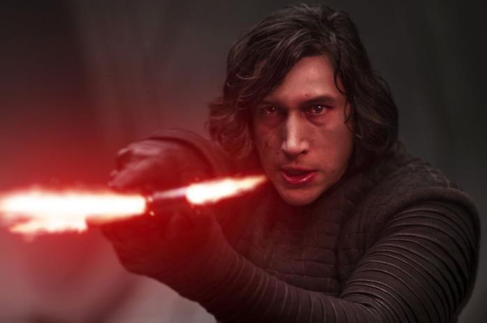 Adam Driver in una scena di Star Wars