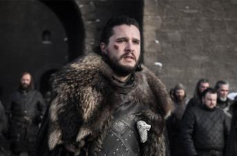Kit Harington nei panni di Jon Snow in Game of Thrones