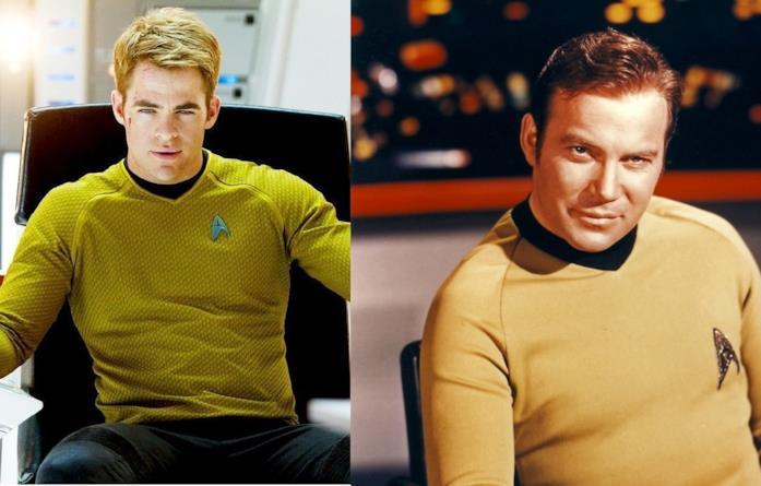 Chris Pine e l'attore della serie originale William Shatner
