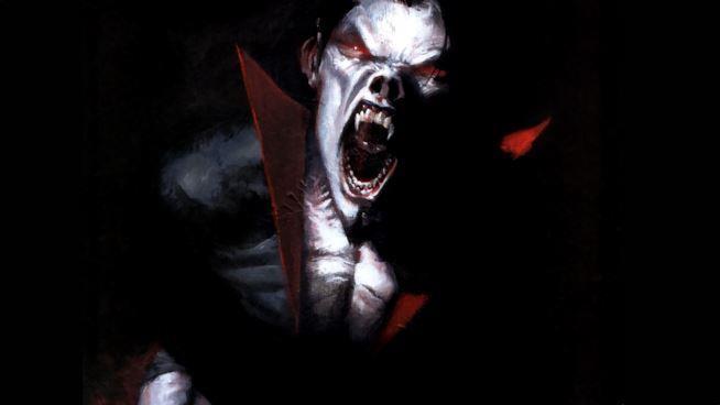Un'illustrazione di Morbius a cura di Gabriele Dell'Otto