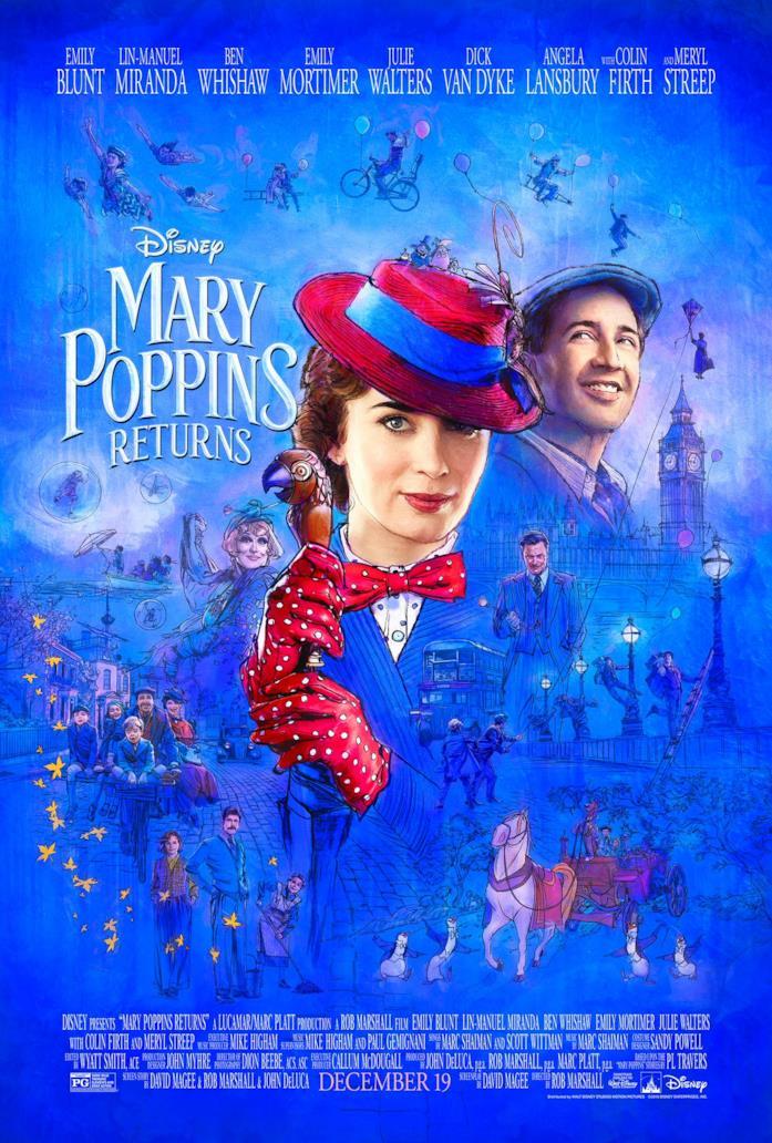 Il poster de Il ritorno di Mary Poppins