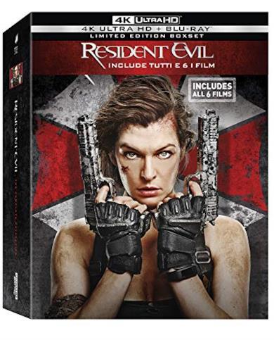 Cofanetto Blu-ray di Resident Evil - Film 1-6