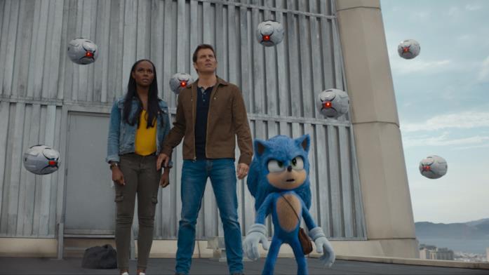 Sonic in un'immagine dal film del 2020