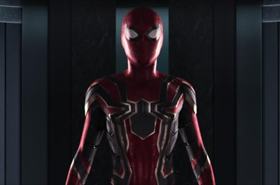 Un'immagine del costume Iron Spider