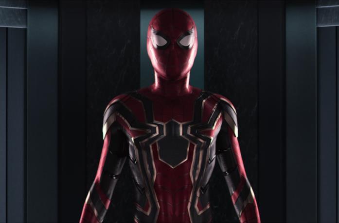 Un'immagine del costume Iron Spider