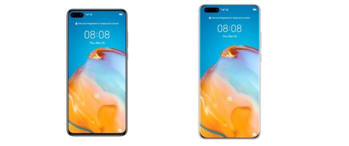 Huawei P40 (sinistra) e P40 Pro (destra)