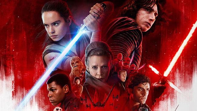 Star Wars: Gli Ultimi Jedi, particolare del poster ufficiale italiano