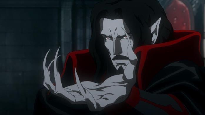 Dracula si trova all'interno del suo castello
