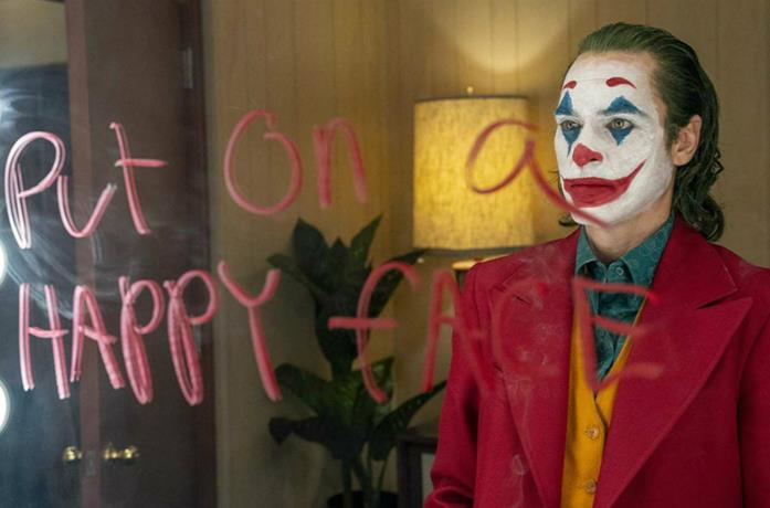 Un'immagine di Joaquin Phoenix in Joker