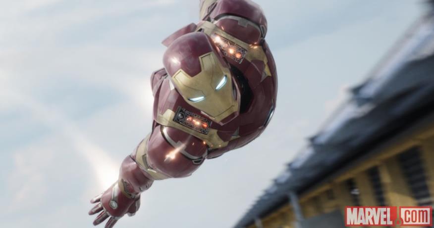 Iron Man in picchiata in Capitan America: Civil War