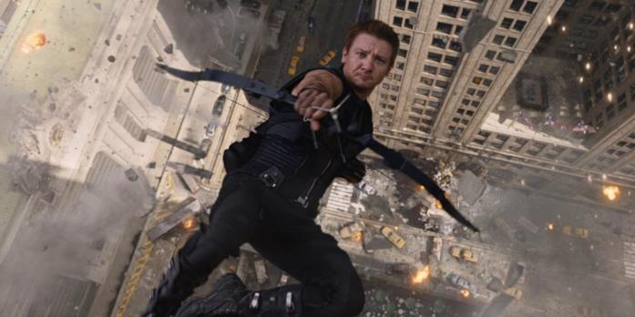 Un'immagine di Hawkeye in The Avengers