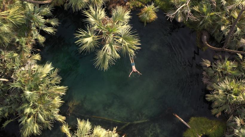Un'immagine che ritrae un laghetto artificiale