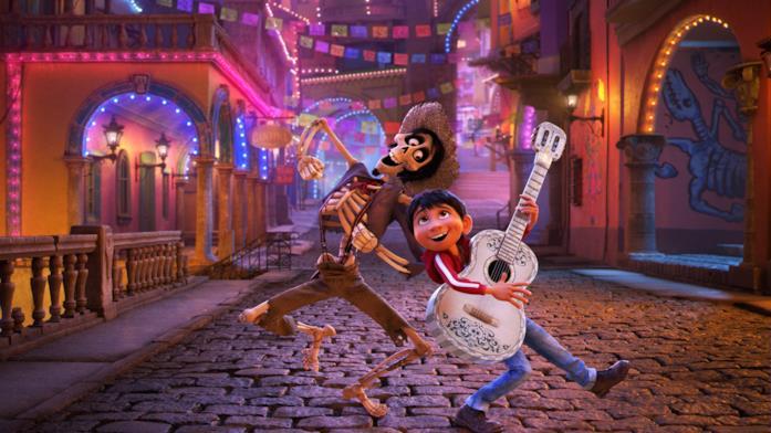 I protagonisti del film Héctor e Coco