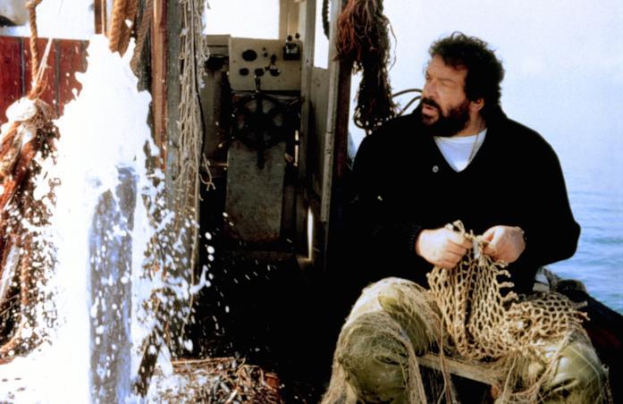 Bud Spencer nella scena iniziale del film
