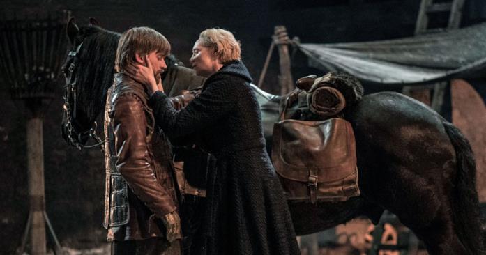 Nikolaj Coster-Waldau e Gwendoline Christie in Game of Thrones 8x04