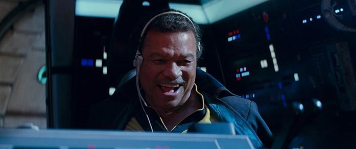 Billy Dee Williams in una scena del film L'ascesa di Skywalker