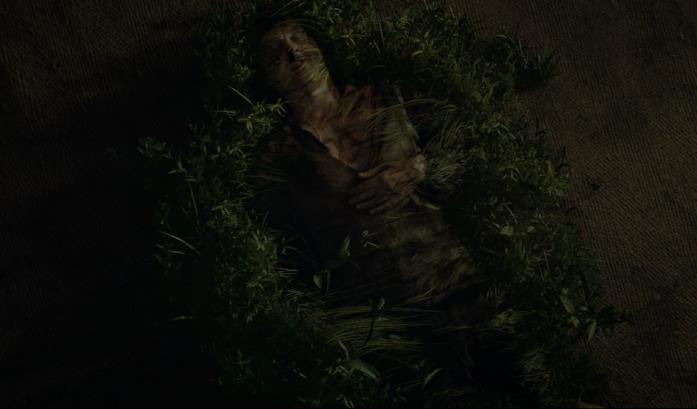 Il cavaliere verde viene circondato dalla flora