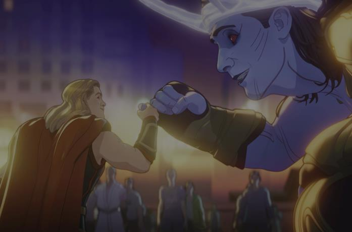 Thor e Loki in What If... ? episodio 7