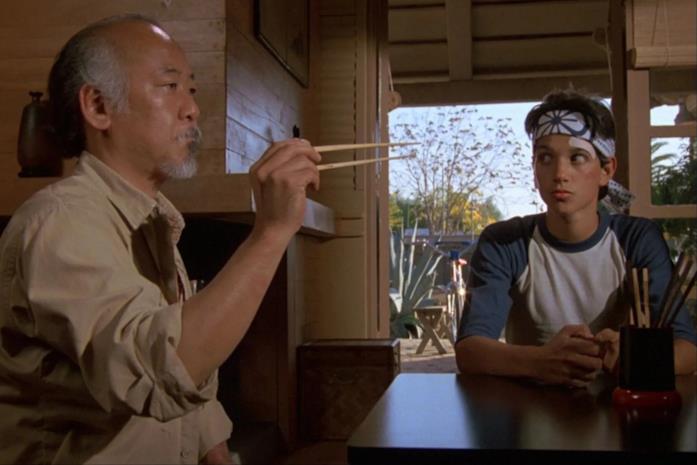 Il maestro Miyagi in Per vincere domani - The Karate Kid