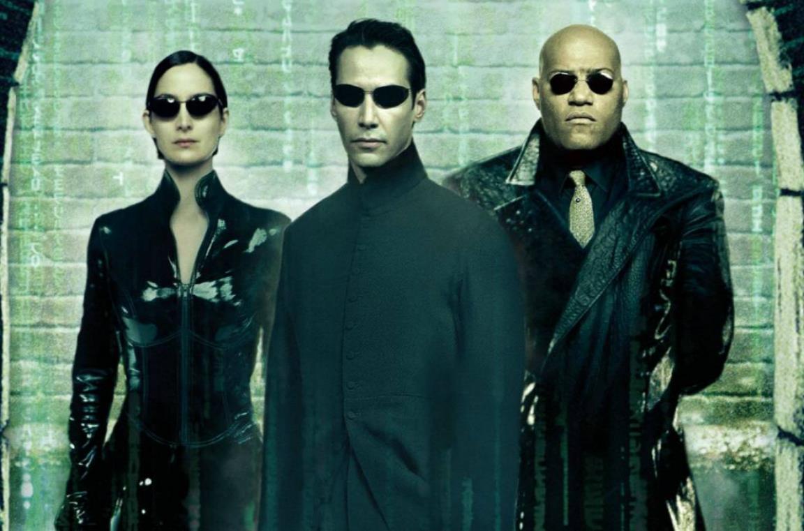 Un'immagine di Neo, Trinity e Morpheus