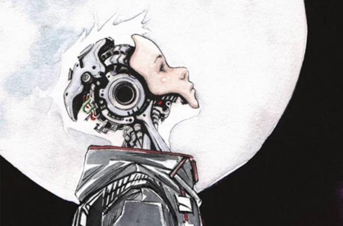 La copertina di un fumetto della serie Descender