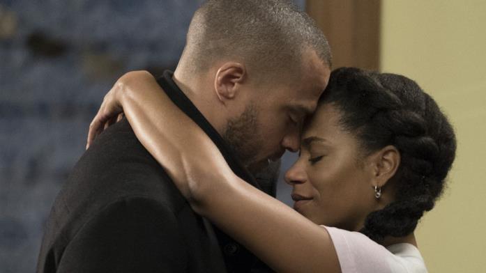 Jackson e Maggie in una scena di Grey's Anatomy