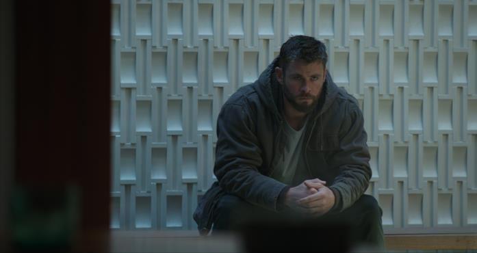 Thor in una scena di Endgame