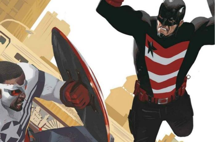 Un'immagine di U.S. Agent e Falcon nei fumetti Marvel Comics