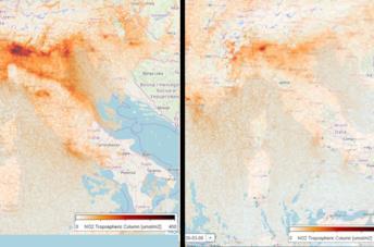 Un'immagine mostra l'aria inquinata di Taranto