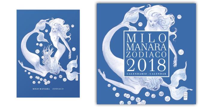 La cover dell'artbook e del Calendario dello Zodiaco di Milo Manara