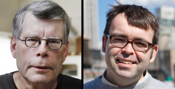 Stephen King e Owen King in un collage