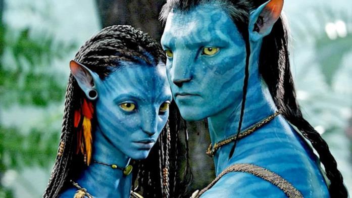 Primo piano dei due protagonisti di Avatar