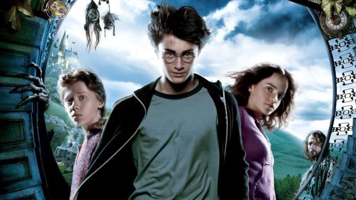 I protagonisti nel poster del film di Harry Potter