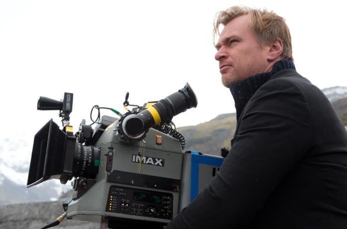 Christopher Nolan sul set di Interstellar