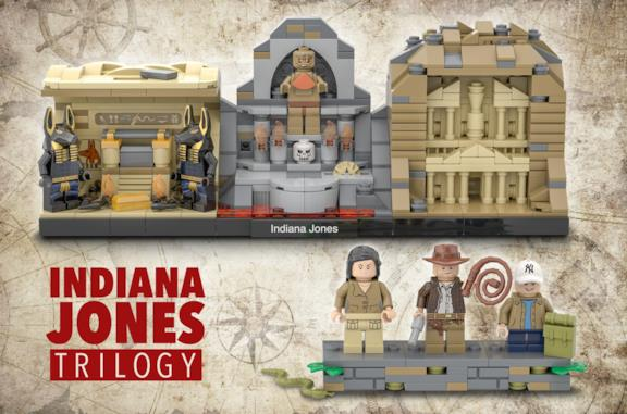 I set LEGO dei primi tre film di Indiana Jones