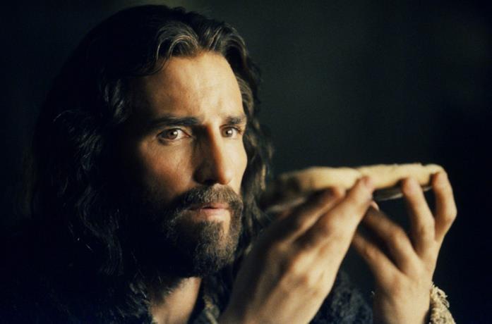 Un'immagine di Jim Caviziel nei panni di Gesù Cristo