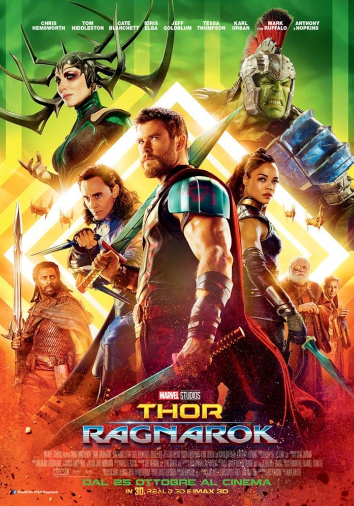 Thor: Ragnarok, il poster italiano
