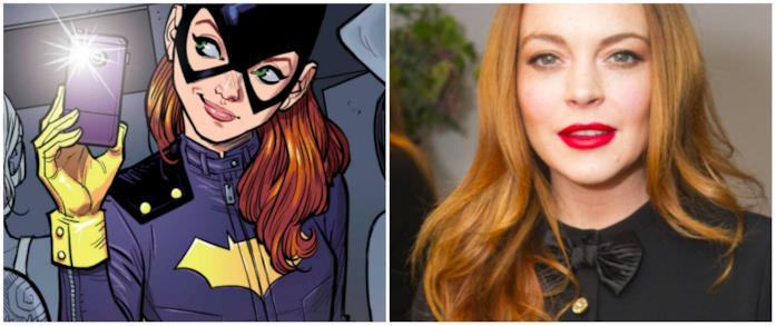 Collage tra Batgirl e Linsday Lohan