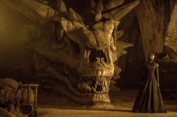 Il teschio del drago Balerion in GoT