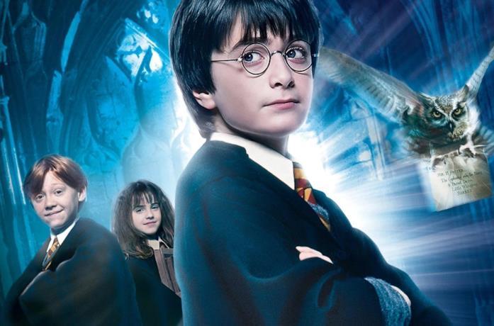 Harry, Ron e Hermione nel poster di Harry Potter e la Pietra Filosofale