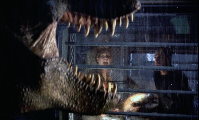 Il T-Rex in una scena del film