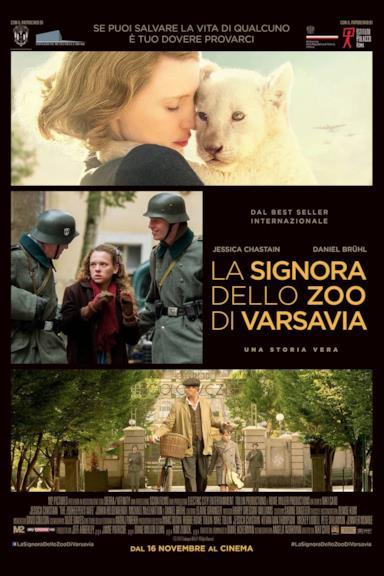 Poster La signora dello zoo di Varsavia