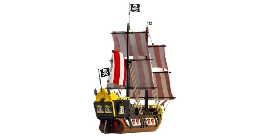 La nave dei pirati di Barracuda Bay montata