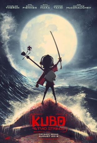 La locandina ufficiale di Laika per Kubo and the Two Strings