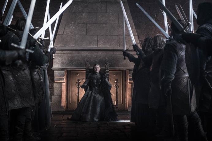 Sansa acclamata regina del Nord nell'episodio di GoT 8x06, The Iron Throne