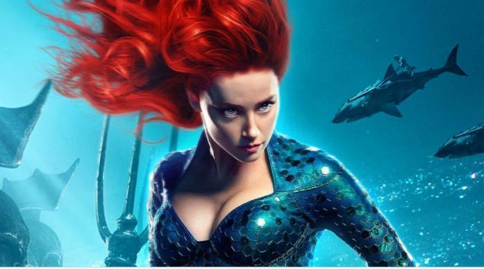 Amber Heard in una scena di Aquaman