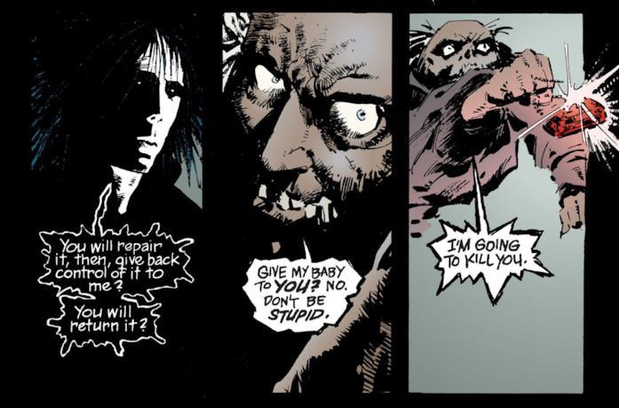 Un'immagine tratta dai fumetti di Sandman