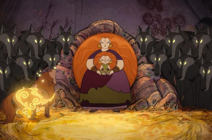 Una scena del film WolfWalkers - Il popolo dei lupi