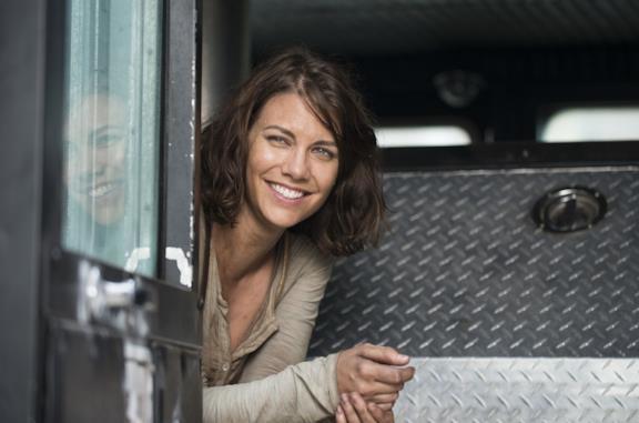 Lauren Cohan nei panni di Maggie in TWD