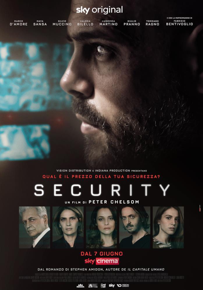 Il cast nella locandina di Security